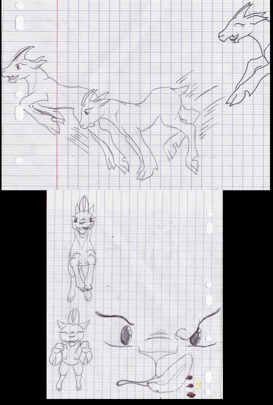 Dragons, chimères et créatures arc-en-ciel - Page 3 513707sketchpetitechvre