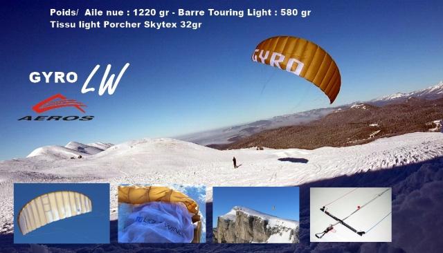 Aeros GYRO LW 2018...l'aile montagne en tissu light 514098aerosgyroLWbronzefonturleavectextes