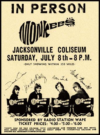 Jacksonville (Coliseum) : 8 juillet 1967 51730308071967