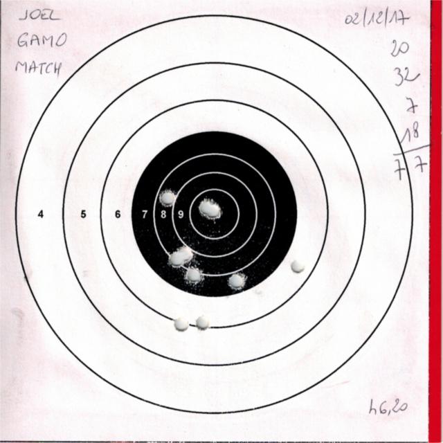 Tests plombs avec carabine Gamo Replay 519527GAMOREPLAYGAMOMATCH5