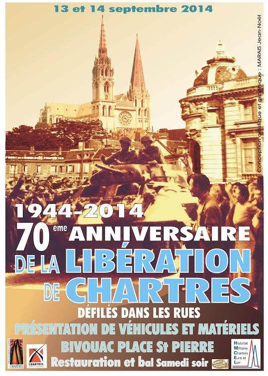13 et 14 Septembre - 70ème ANNIVERSAIRE DE LA LIBERATION DE CHARTRES  52094670E
