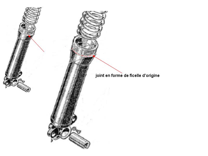 Joint spi sur fourche BSA B31 1955 523832fourche