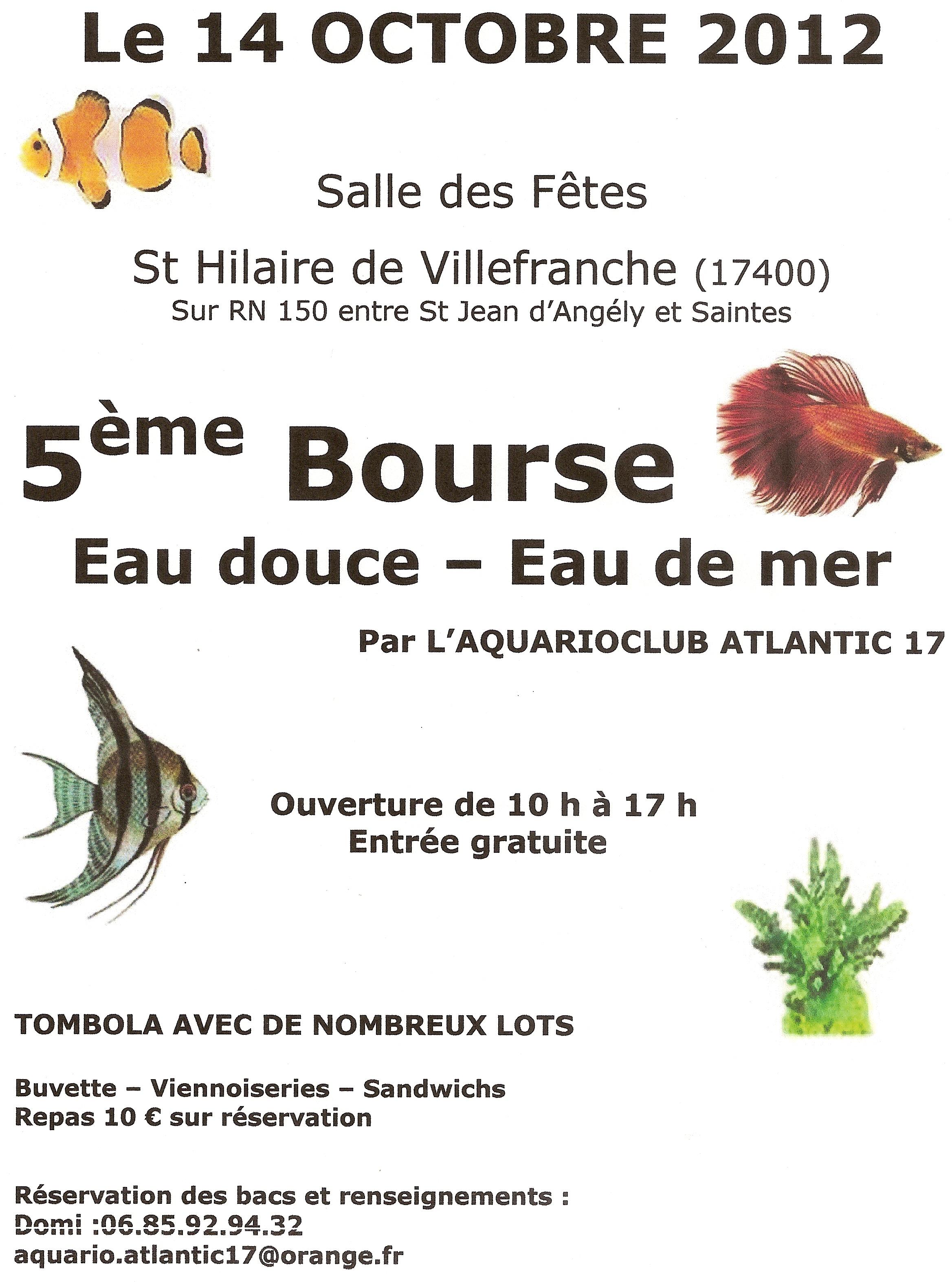 Bourse de St Hilaire de Villefranche le 14 octobre 529770Affiche