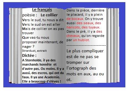1er Cour de français ! Pour les 6eme B ! 536509franaisP1