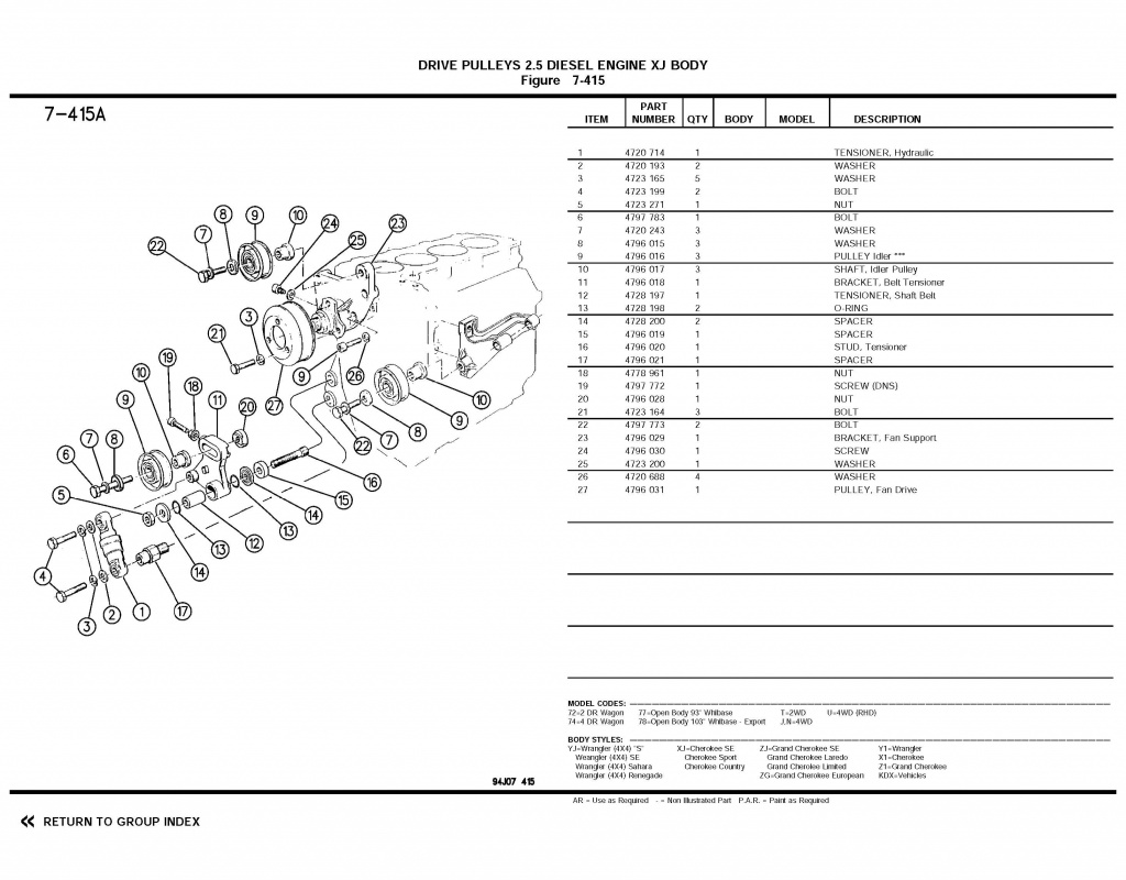 Poulie de ventilateur 2.5td VM 53673819941996partscatalog