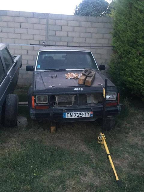[ Jeep Cherokee XJ 2.1TD 1988 - Transformation en pick-up ]  537897Vuedevant