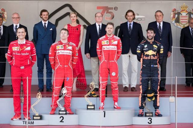 F1 GP de Monaco 2017 : Victoire Sebastian Vettel  5410072017KimiRikknenSebastianVettelDanielRicciardo
