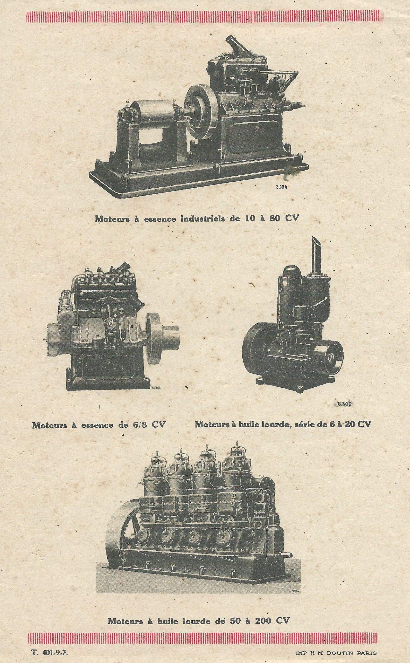 RENAULT - moteur renault 263 546919RENAULTmoteursfixes1927008