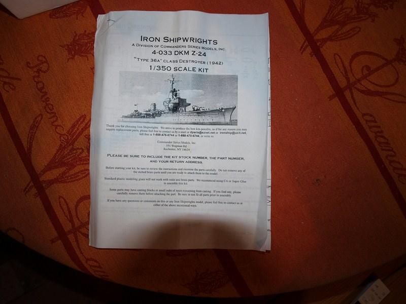 Destroyer  DKM Z 24 1/350 547185P2034234Copier