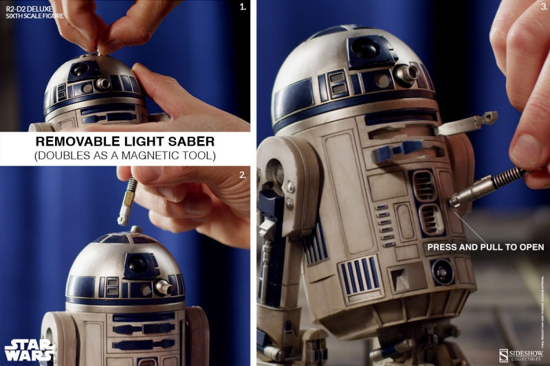 Sideshow - R2-D2 Deluxe Sixth Squale Figure 5524122172r2d2deluxe012
