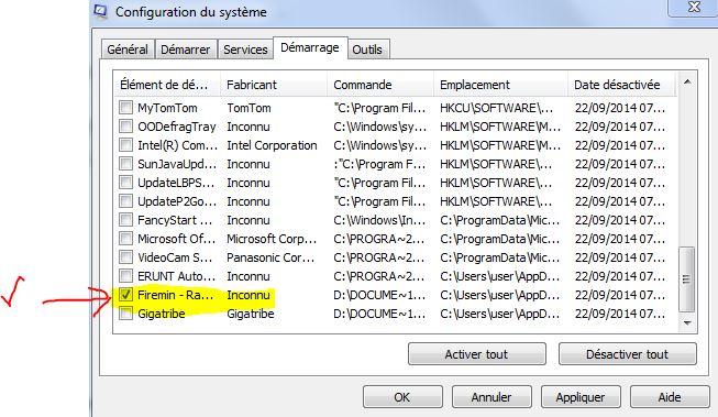 Maj Firefox 555932Configsystmeviarecherchermsconfigdansongletdmarrage