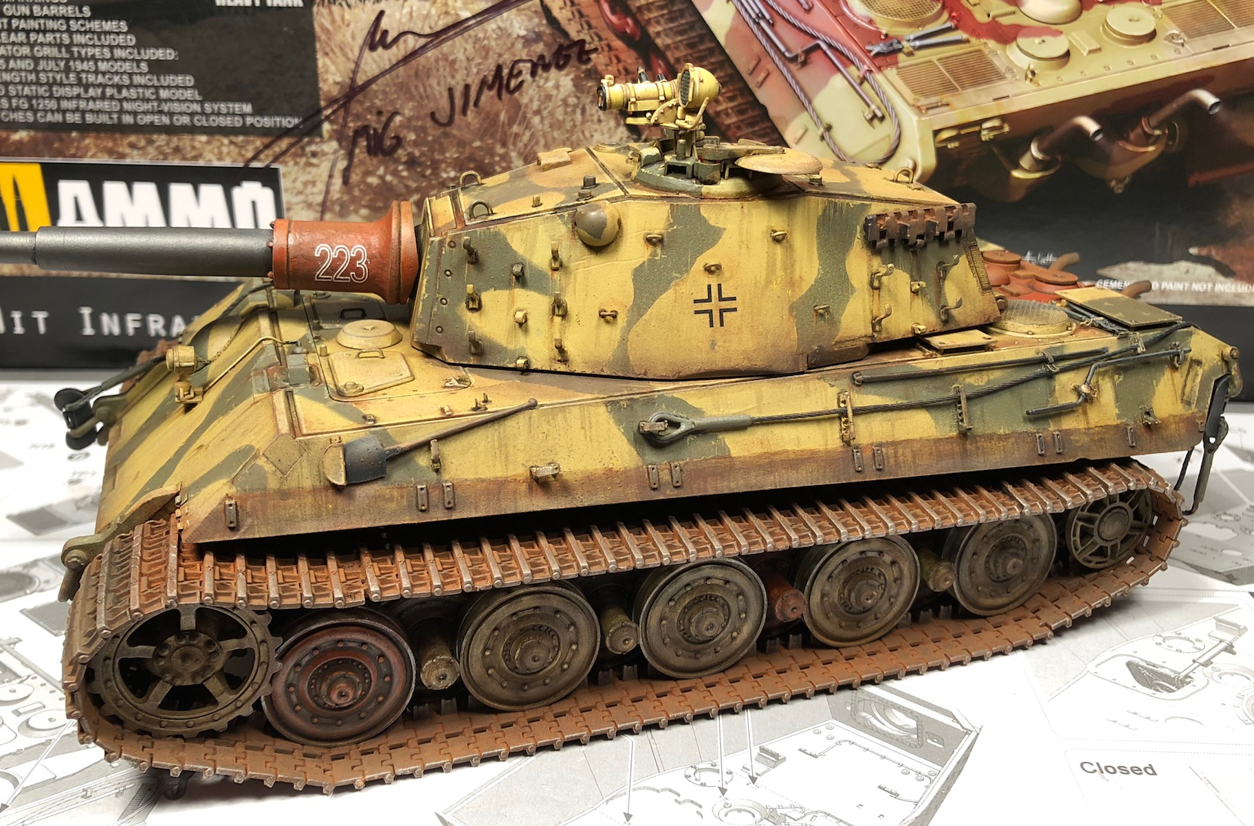 """King Tiger Ammo """"What If"""" - Page 2 557677Weathering3LeftC"""