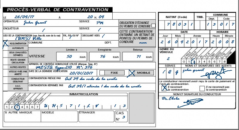 [P.N] Rapport d'action RP de 17_David 558359PVcontraventionfait