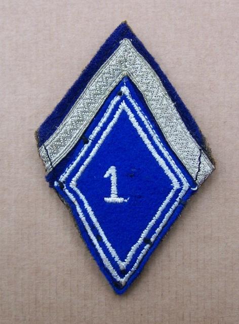 Deux soutaches à l'insigne régimentaire du 1er RCP 563312TISSU3001