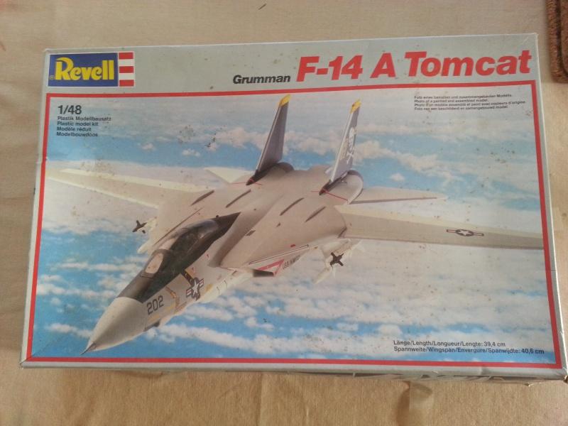 "Grumman Tomcat F14A ""TOMCAT"" Revell au 1/48 boite 1986* 564388201609201758370"
