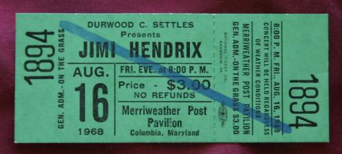 Columbia - Maryland  (Merryweather Post Pavilion)   16 août 1968 566567billet81668