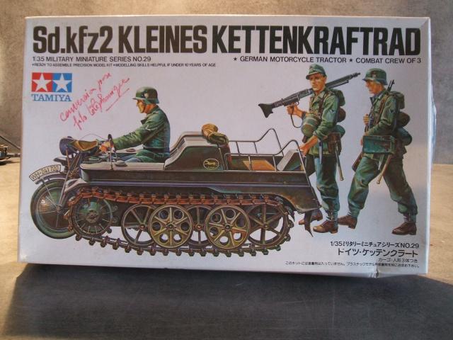 SdKfz 2 Kleines Kettenkraftrad [TAMIYA] [montage terminé] avec remorque transport de bombes [scratch] [terminé] 572701DSCF6844