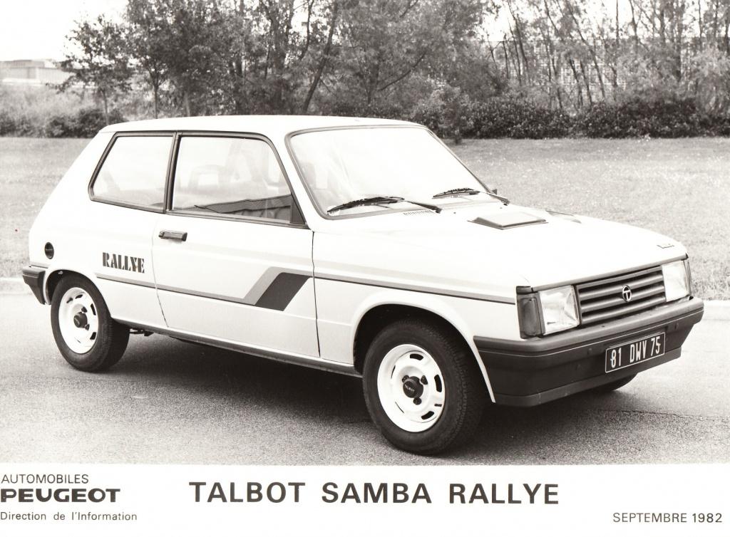 Dossier de presse Talbot Samba Rallye (septembre 1982) 574013a0011