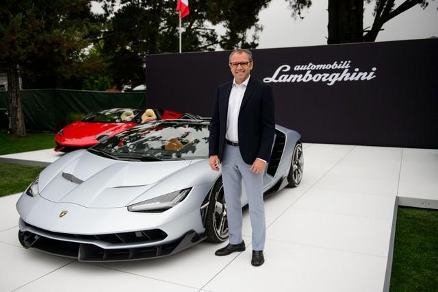 Lamborghini a dévoilé sa Centenario Roadster à Pebble Beach  576607446261