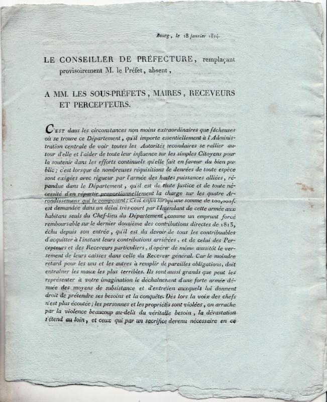la campagne de 1814 - armée des Alpes 577767scan37