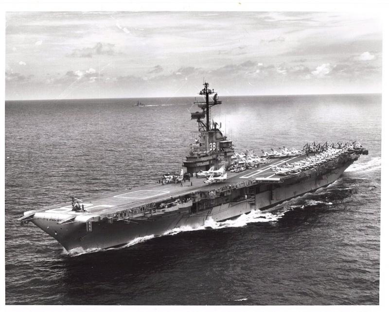 VOUGHT F-8 CRUSADER  577848USSShangriLaCVA38Mditerrane1965