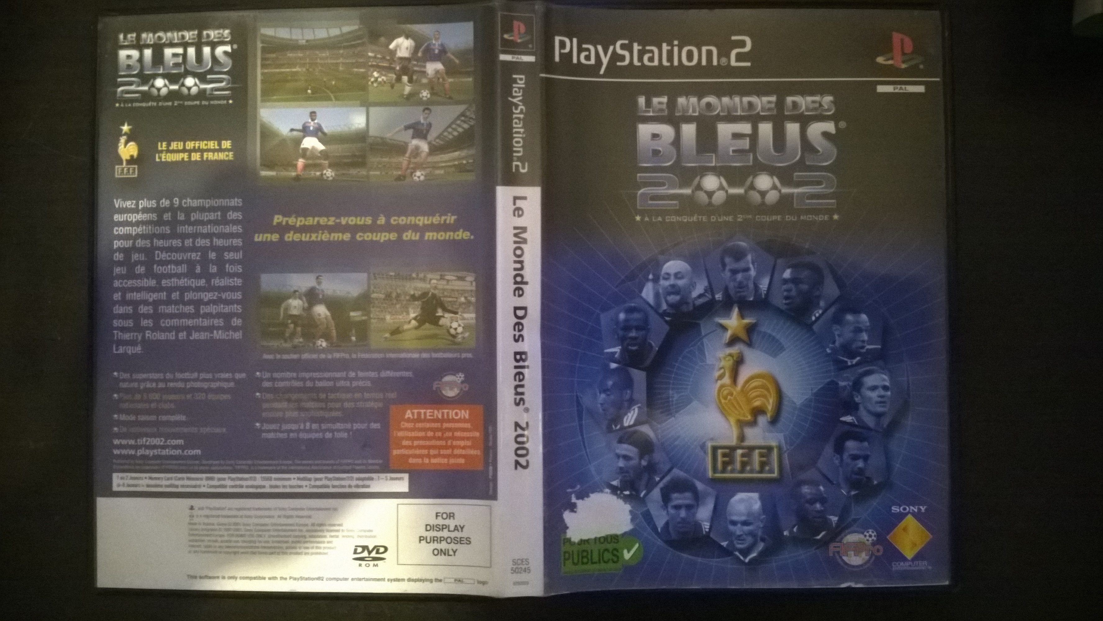 "demande info sur jeux ps2 : ""for display purposes only"" 580267WP20150309002"