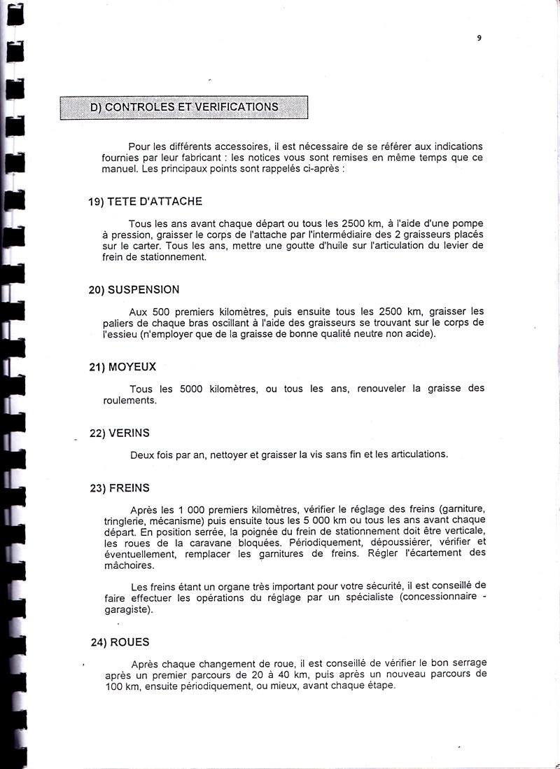 Manuel d'utilisation et d'entretien des caravanes Esterel 1997/1998 580851IMG0009
