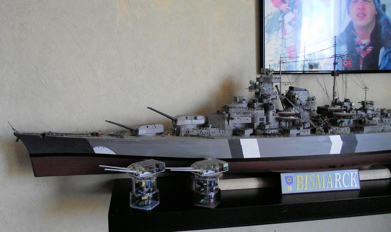 Bismarck Trumpeter 1x200 avec PE et figurines Eduard 588858Bismarck1x200156