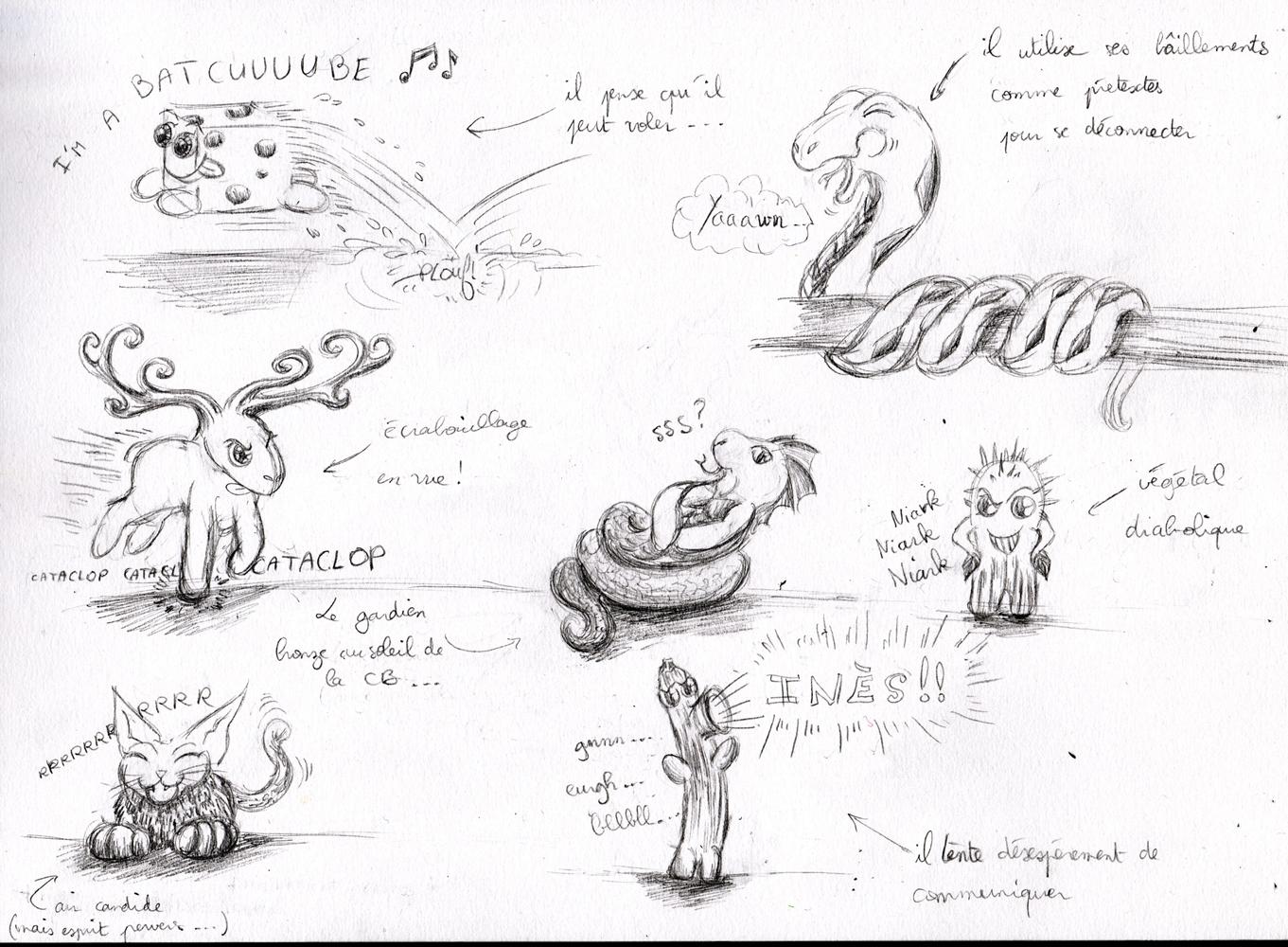 Dragons, chimères et créatures arc-en-ciel - Page 3 590239PersosENnoiretblanc