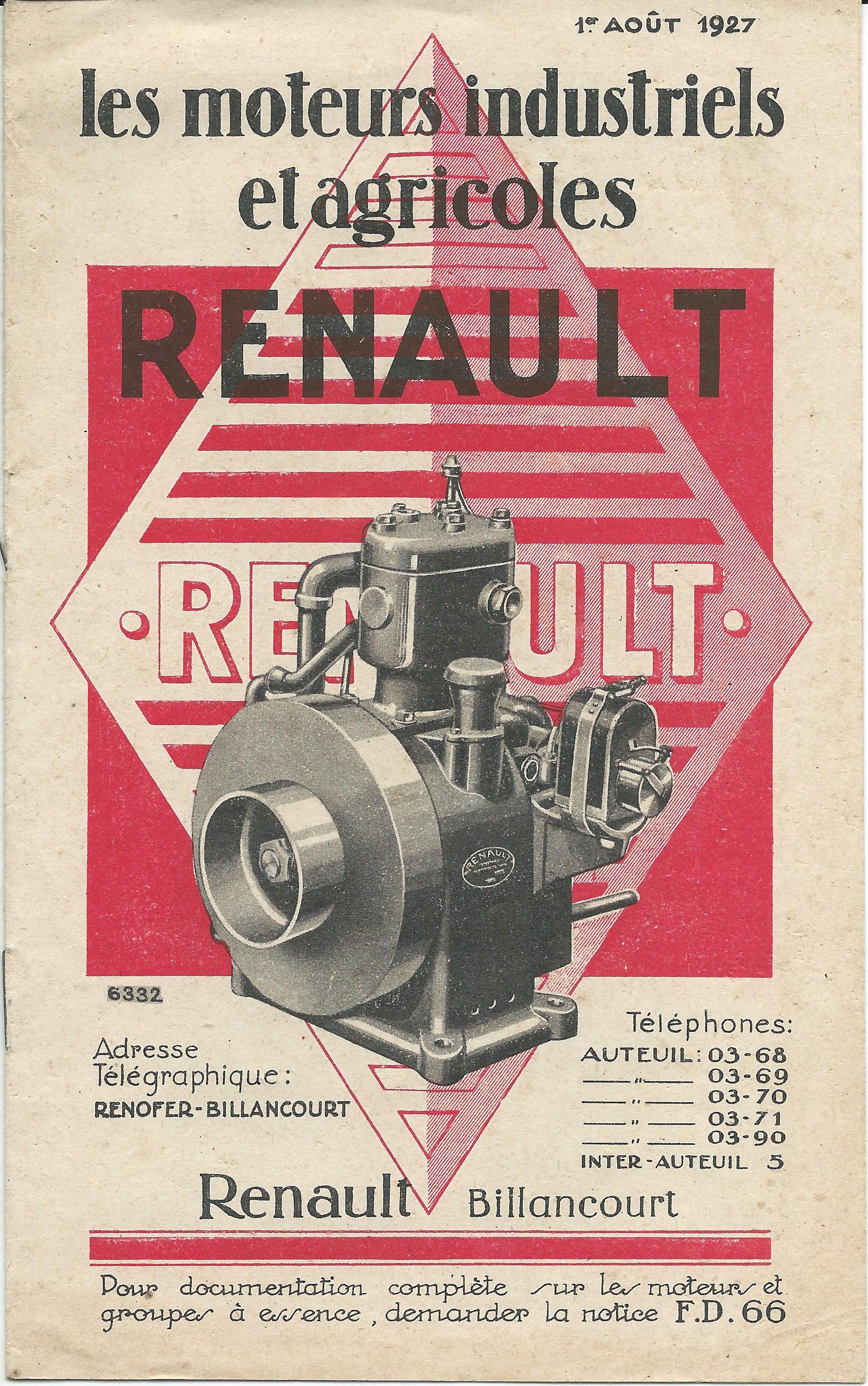 RENAULT - moteur renault 263 591559RENAULTmoteursfixes1927001