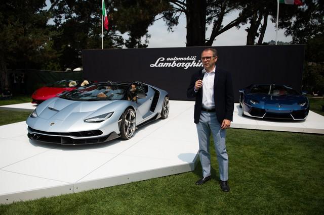 Lamborghini a dévoilé sa Centenario Roadster à Pebble Beach  593528446237