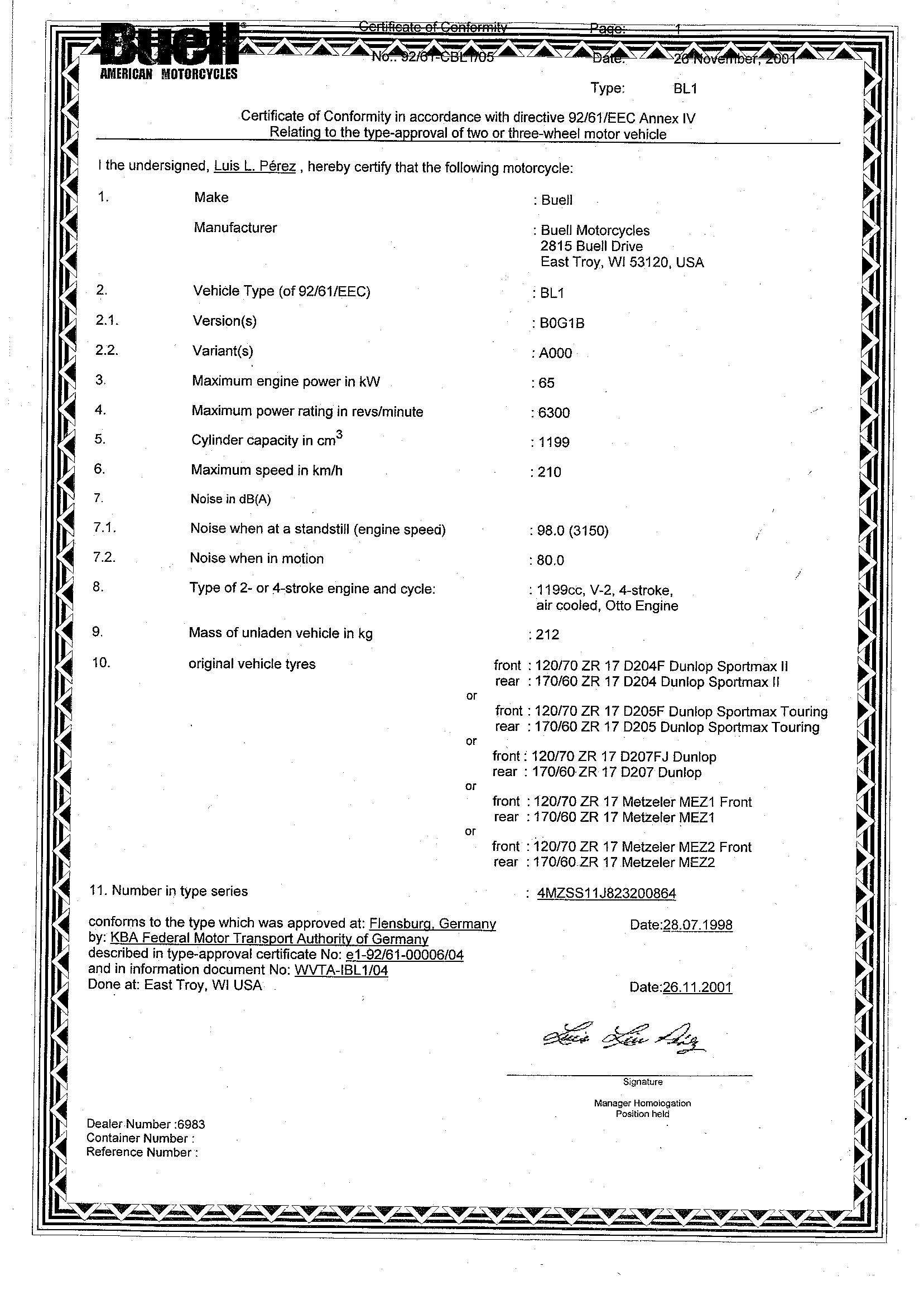 harley dating certificat)