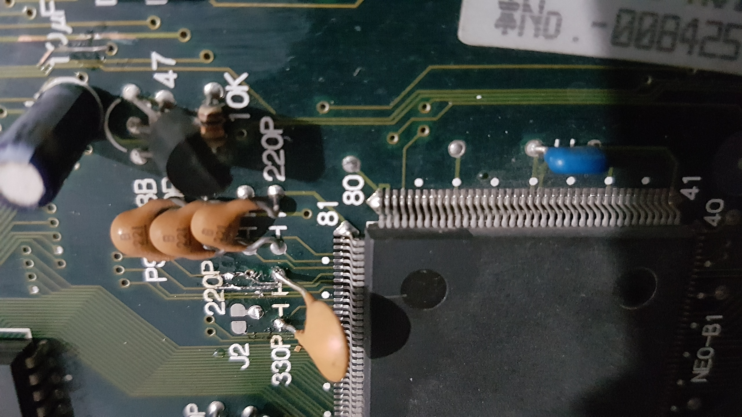 Réparation slot MVS MV1FS 60952520171017230240