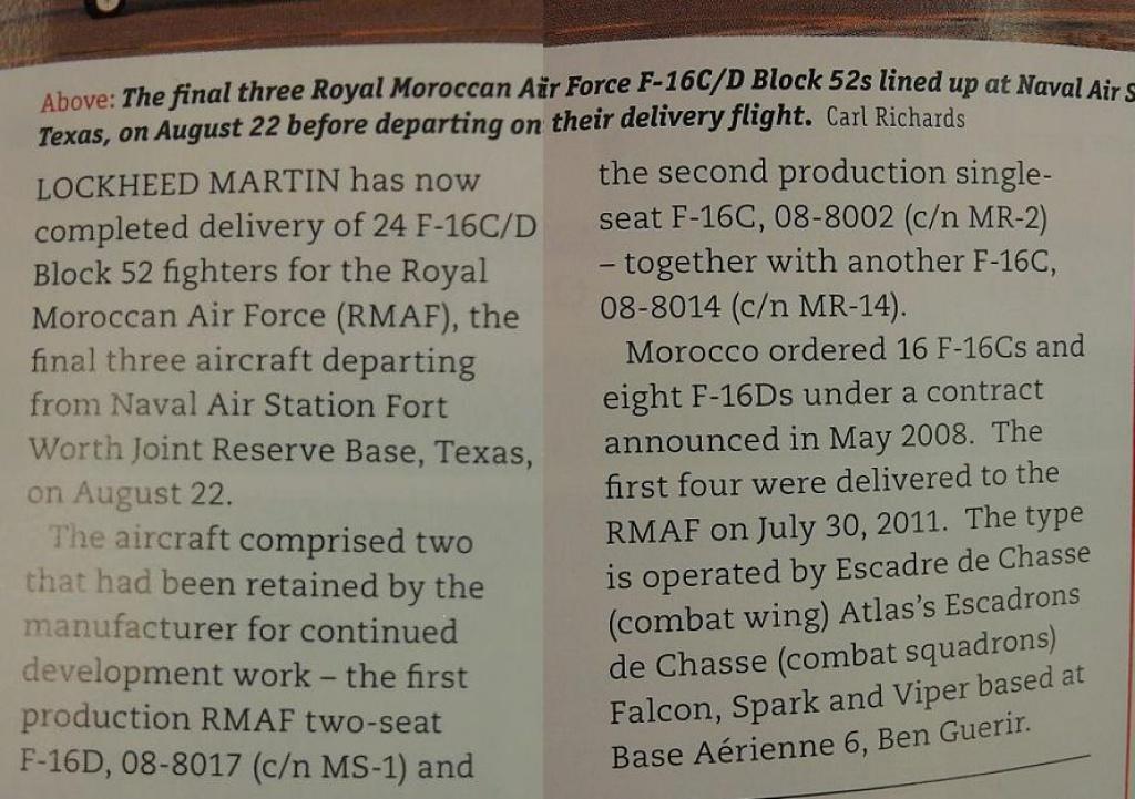 Moroccan F-16 Atlas Falcon / RMAF F16 block 52+ 616583Sanstitre