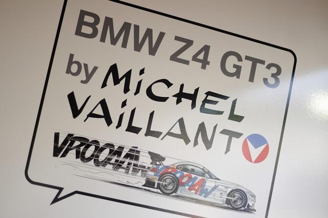 Le Brand Store BMW George V présente l'exposition « Michel Vaillant Art Strips » et la BMW Z4 GT3 by Michel Vaillant  623399P90191602highResmunichde24thjuly2