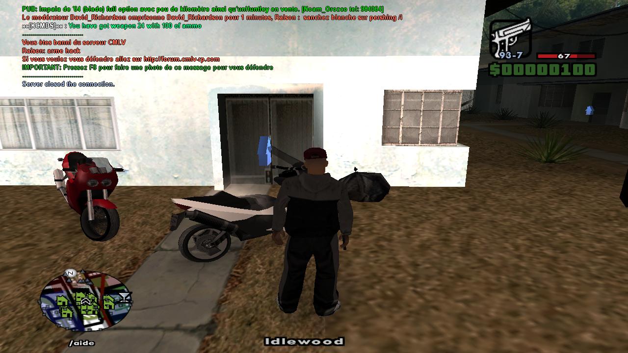 Tayron Anderson [Weapon cheat] 624573samp002