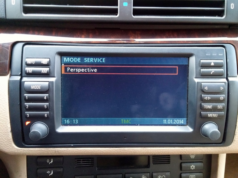 [TUTO toutes BMW jusqu'à 2003] Les menus du GPS mk4 (notions 630661Modeservice2