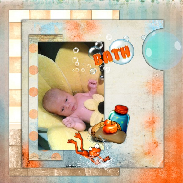 Mes pages CT de Kittyscrap 632195KitBabyBathwithfrog6x6