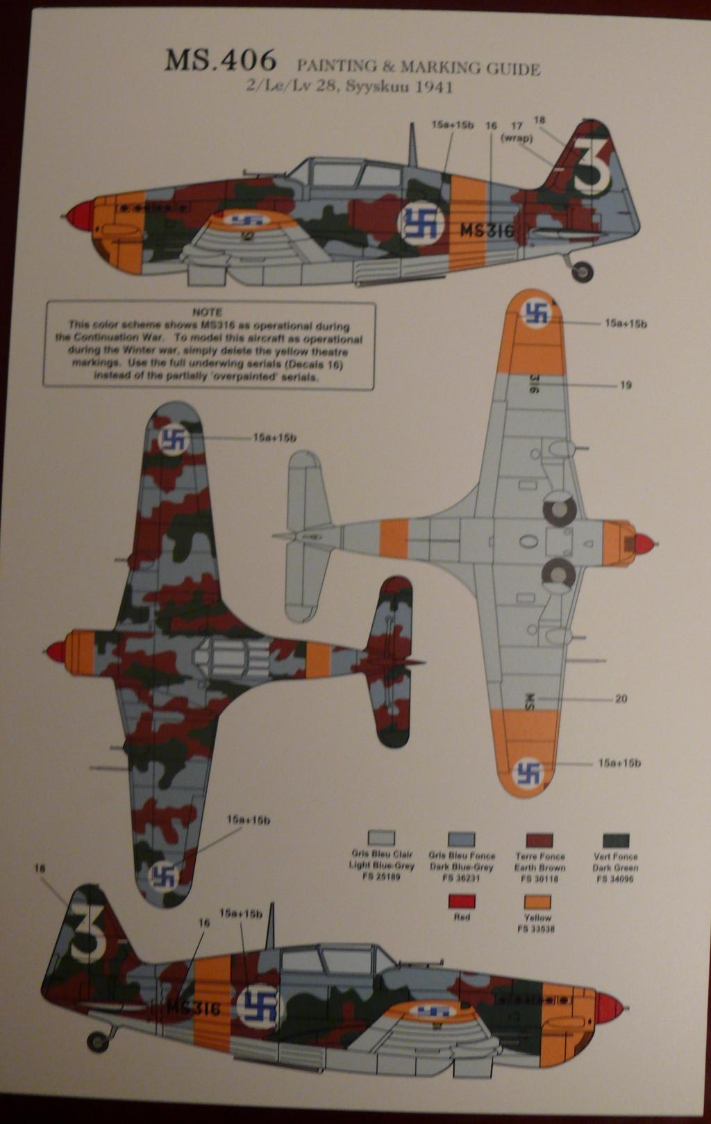 Morane Saulnier MS406 1/48 Classic Airframe 633107P1090596