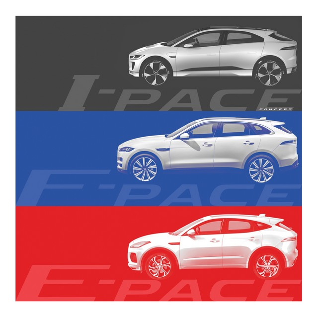 Jaguar E-Pace, le nouveau SUV compact sportif 635738jagepaceannouncementpacefamily21061704