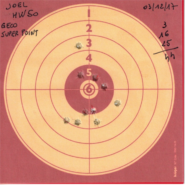 Tests plombs avec carabine Weihrauch HW50S 638614HW50GECOSUPERPOINT