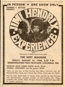 Columbia - Maryland  (Merryweather Post Pavilion)   16 août 1968 643934Merriweatherpress