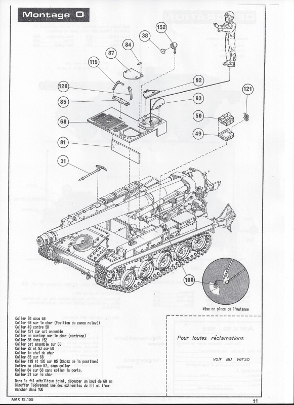 AMX 13 canon de 155 1/35ème Réf L 782 644872AMX13155782012Heller135