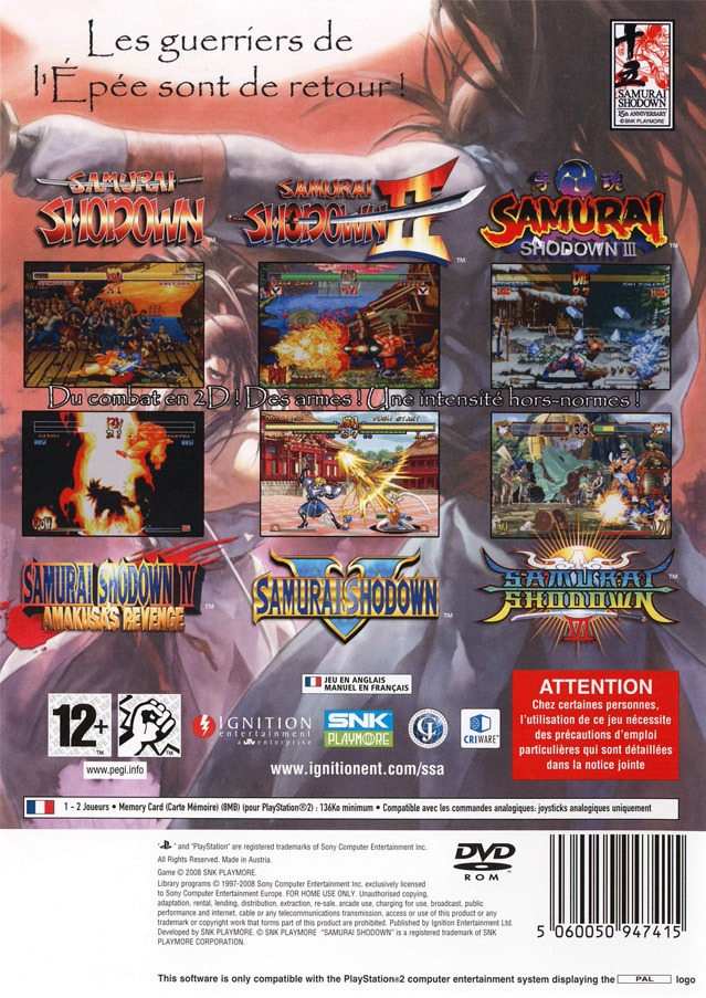 Samurai shodown anthology ps2 fr?? 646968ssaaps2fr