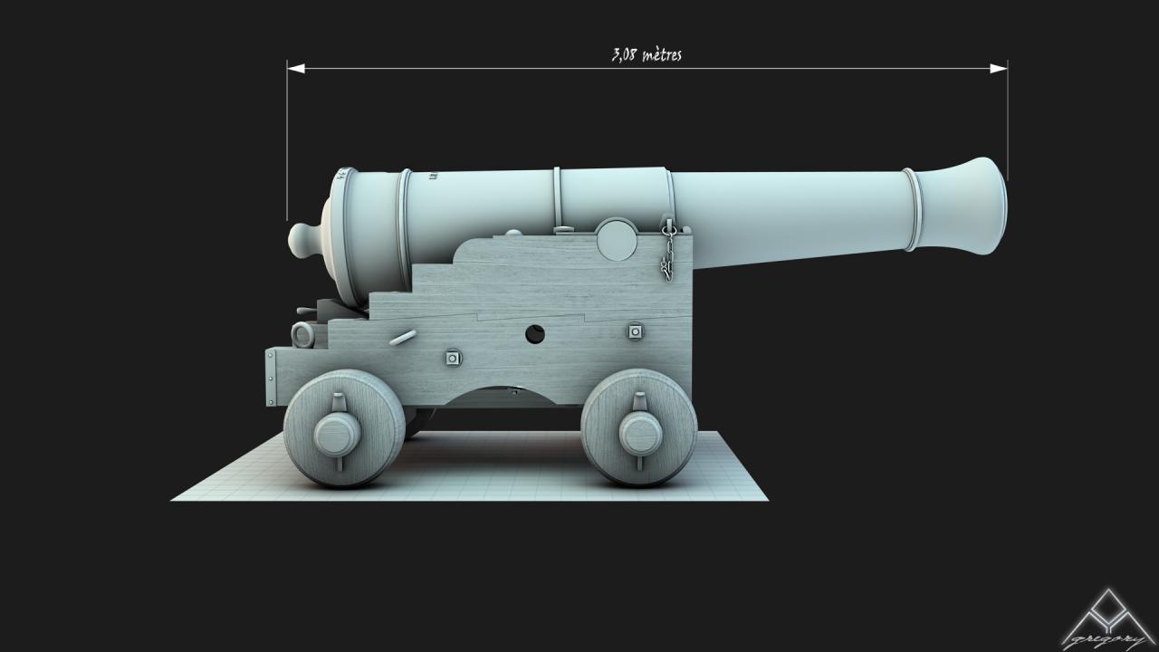 Canons pour le vaisseau de 74 canons - Page 2 651866Canon36