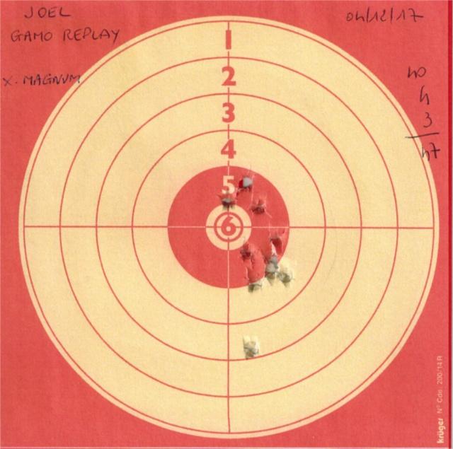 Tests plombs avec carabine Gamo Replay 657400GAMOREPLAYSTOEGERXMAGNUM