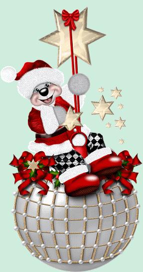 Le père Noël ammène sa hotte remplie de cadeaux pour tous les enfants sages! 661610animeavie1