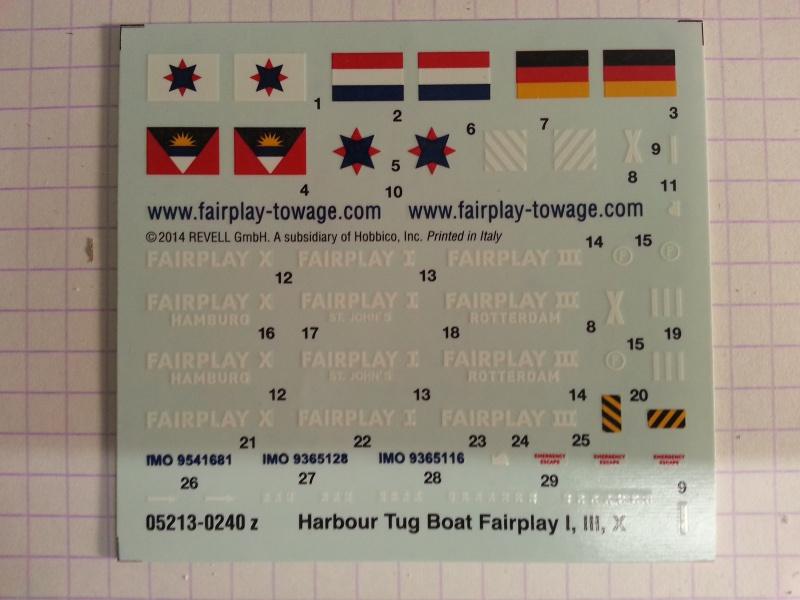 FAIRPLAY Harbour Tug Boat de Revell au 1:144  663277lolo005