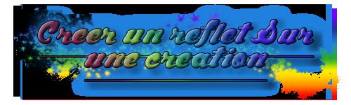 [Apprenti] Créer un reflet sur une création: texte et fond 671119titretuto