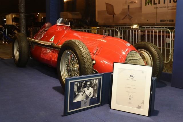 La légendaire Alfa Romeo 158 célèbre le retour de la Marque en Formule 1 lors de l'inauguration du FIA ''Hall of Fame'' à Paris 671623AR15803